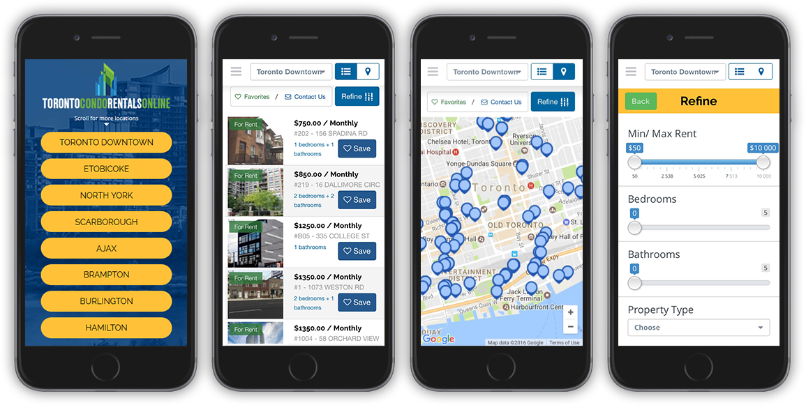 Toronto Apartment Rentals Online Mobile App Now Available